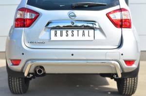 Nissan Terrano 2014-  Защита заднего бампера d42 (волна) NTRZ-001795
